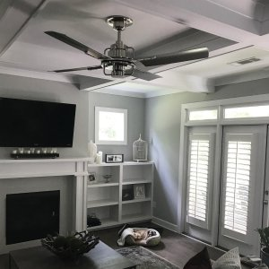 Peregrine industrial led ceiling fan led 4 blade ceiling fan we love to receive photos of how rejuvenation lives in your home the peregrine fan aloadofball Gallery