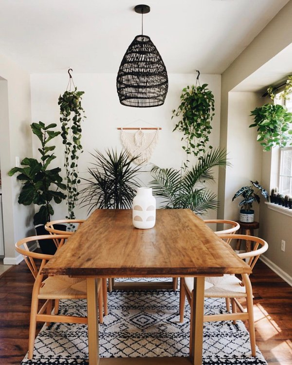 plants eclectic instagram-post boho dining-room 1
