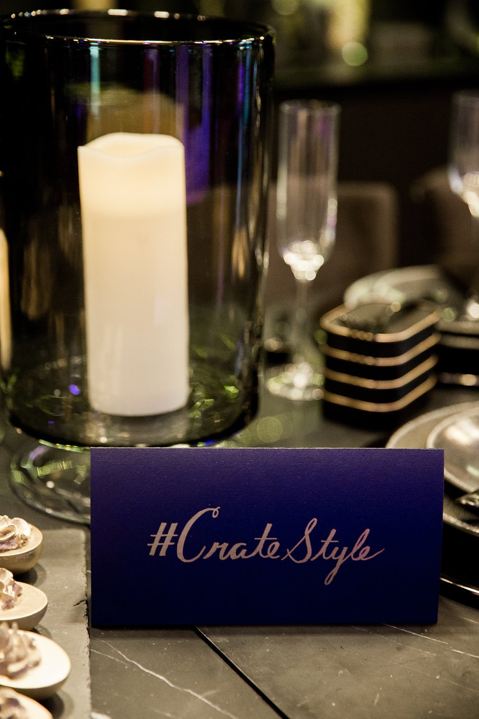 #CrateStyle card on table for spectators to use on social media