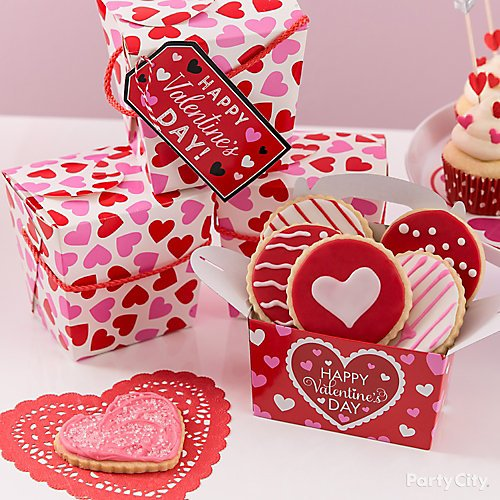 Curated Image With Valentines Day Favor Box Happy Valentines Day Gift Tags 12ct