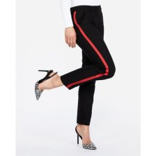 Shop Mid Rise Side Stripe Columnist Ankle Pant Black Women's 6 Long and more