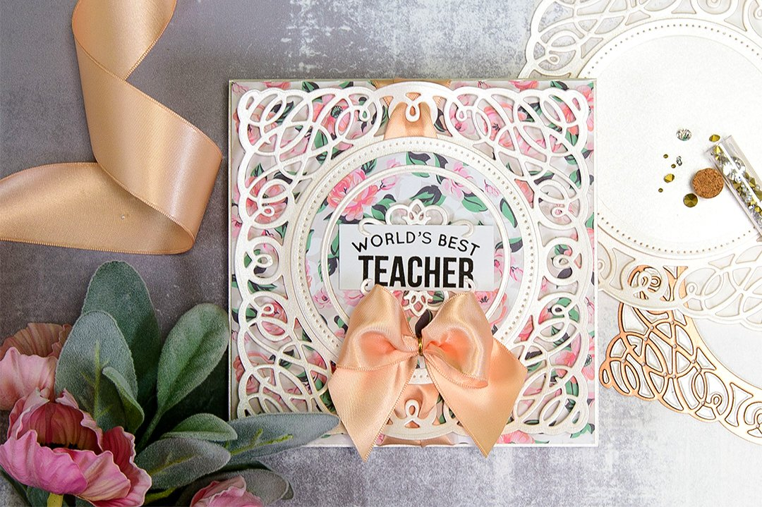 Layered Dimensional Die Cutting. Episode #2 - Teacher Card MAIN IMAGE