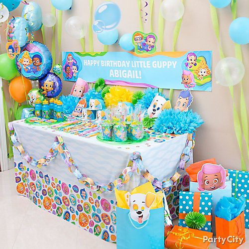 Marvelous Bubble Guppies Party Ideas Party City Birthday Cards Printable Trancafe Filternl