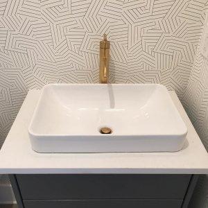 KA Purist Tall SingleControl Sink Faucet KOHLER - Kohler purist bathroom sink