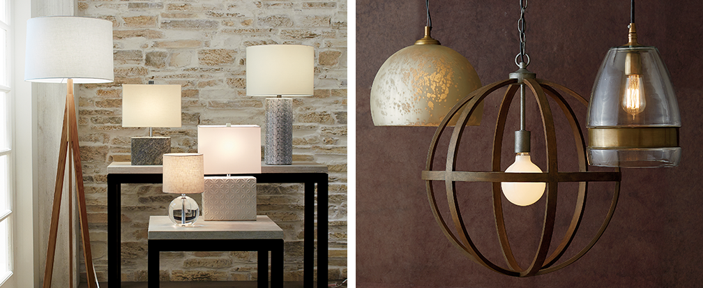 Contemporary table lamps and floor lamps