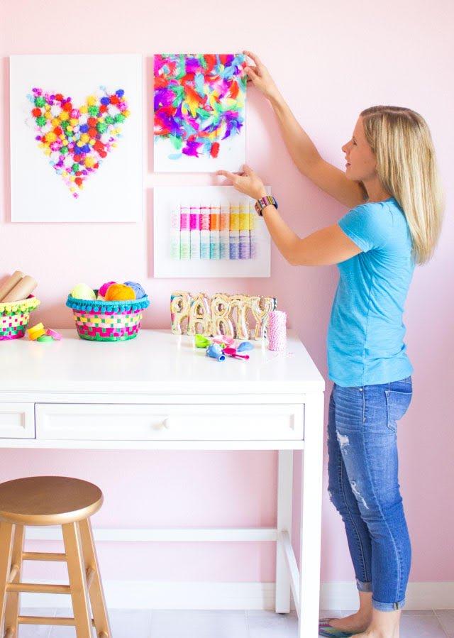 Haeley Giambalvo of Design Improvised blog in her craft room