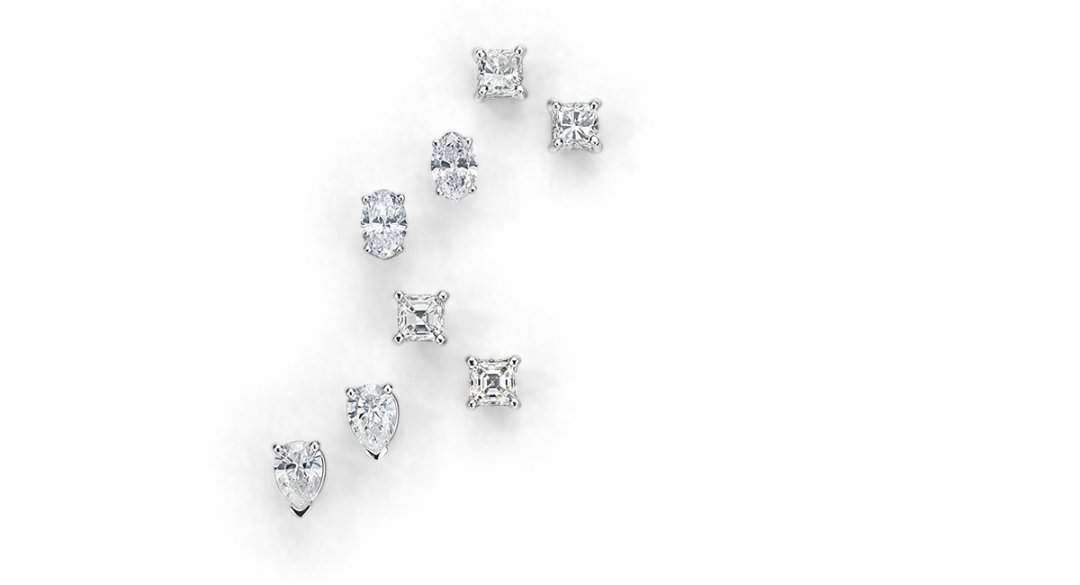 geometric stud petite burnished pin plating silver earrings shaped diamond miglio in