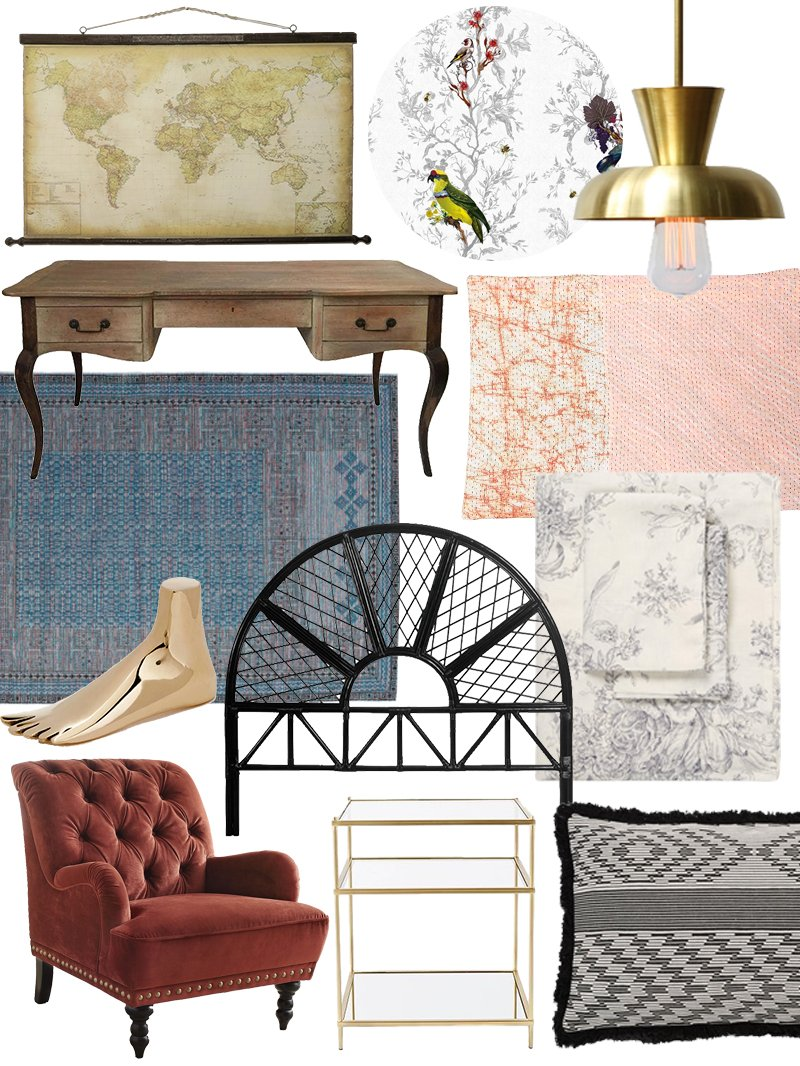 Create The Look Eclectic Collector Bedroom Shopping Guide