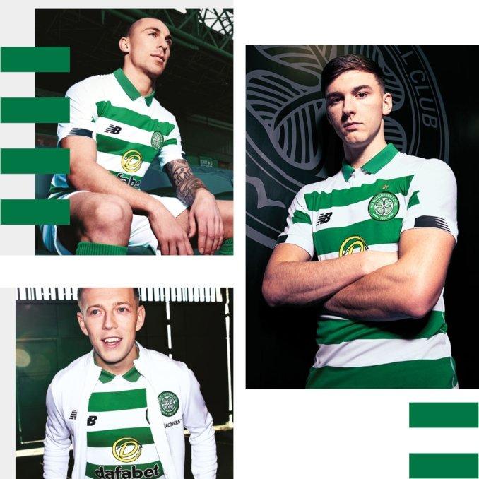 Jugadores del Celtic FC con la nueva equipación 2019-2020