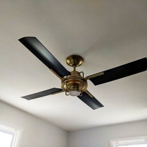 Peregrine industrial led ceiling fan led 4 blade ceiling fan hand made american made rejuvenation aloadofball Gallery