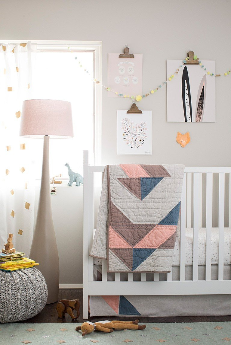 how to design a nursery in six steps the land of nod. Black Bedroom Furniture Sets. Home Design Ideas