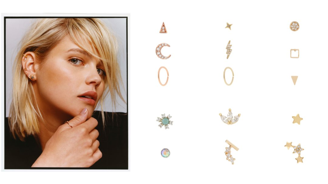 aa277f1e5 Curated image with 3x Moon Flat Back & Hoop Earring Set, 3x Lightening Flat  Back ...