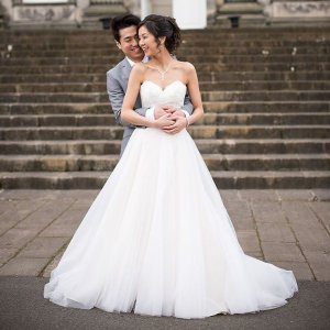330d11b2df432 Our beautiful bride Patricia wearing  missstellayork 6357 💫 Patricia and  Jacky had a stunning ceremony .