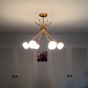 Pontil 6 light chandelier by george kovacs at lumens pontil chandelier mozeypictures Choice Image