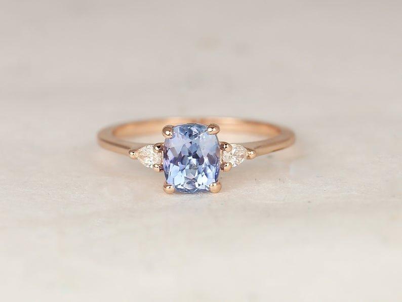 Petit Ellis Blue Rectangular Ring