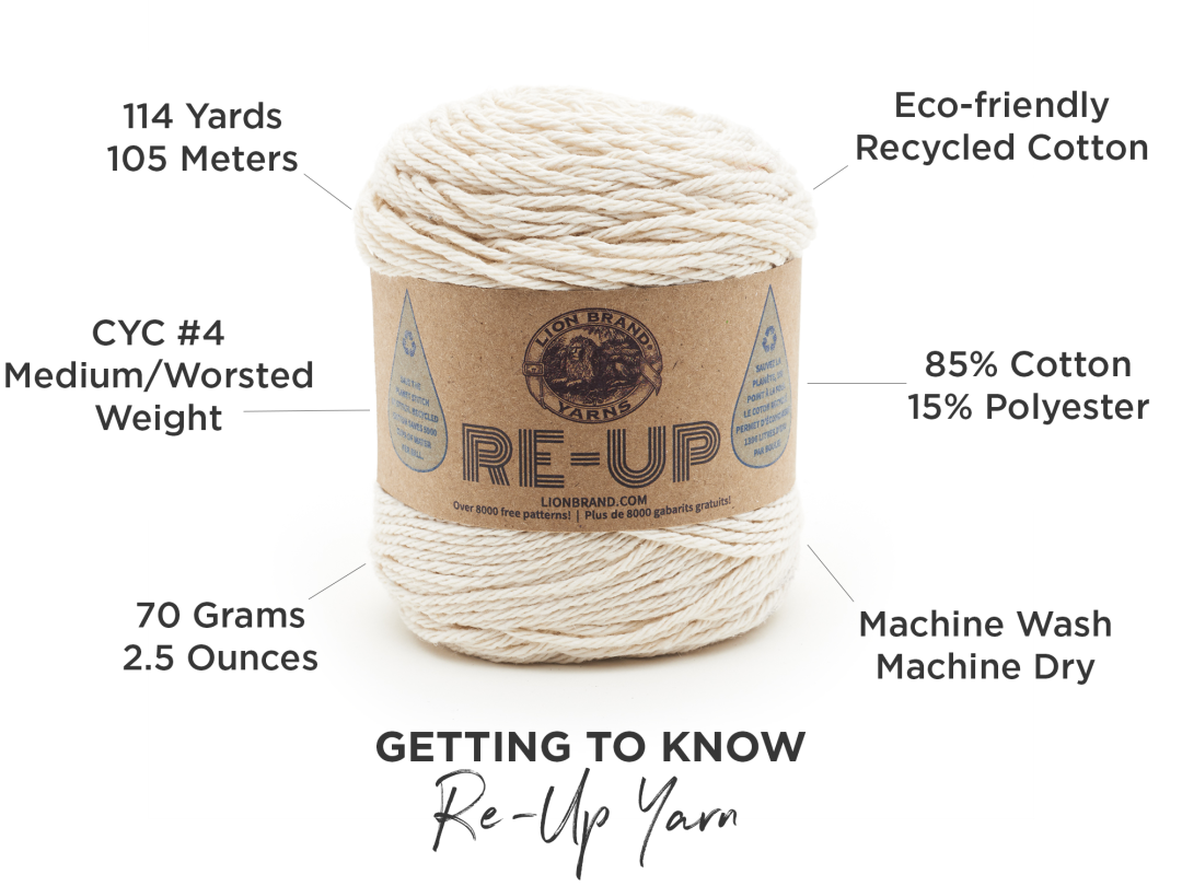 Queue Up Re-Up: Our New Recycled Cotton Yarn | Lion Brand Notebook
