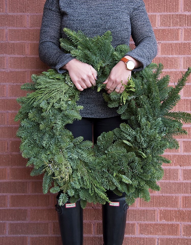 shop 24 in fresh noble fir christmas wreath at lowescom - Lowes Christmas Wreaths