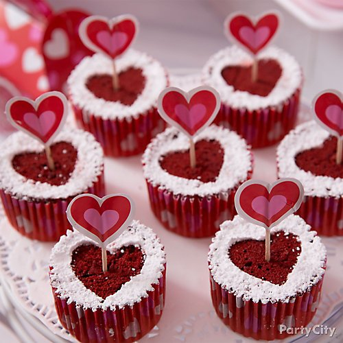 Curated Image With Valentines Day Heart Party Picks 36ct Bold Valentines Day Baking Cups