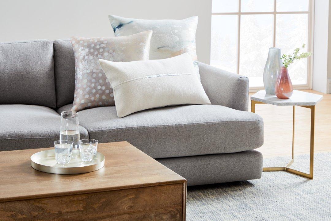 Pillows + Throws Inspiration   west elm