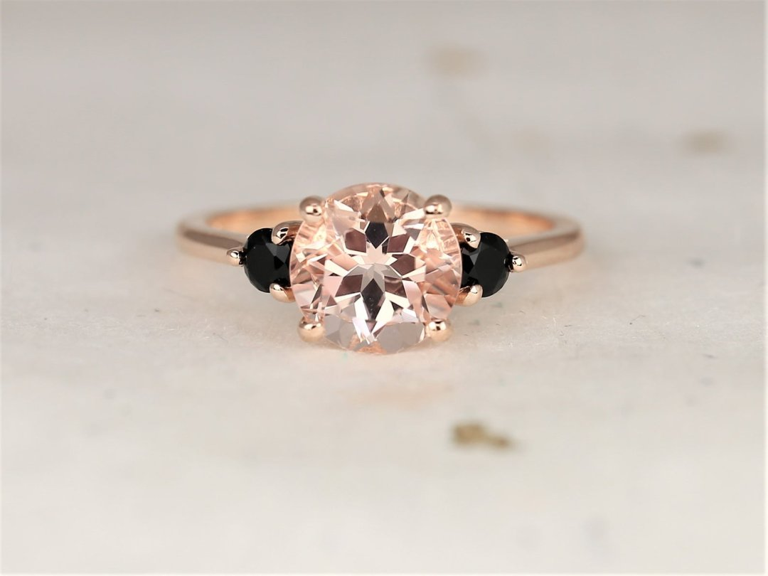 minimalist engagement ring with morganite center stone