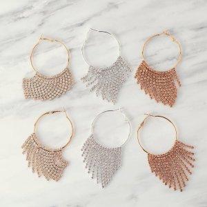 55b1b26283f7d Hoop Earrings | JTV.com