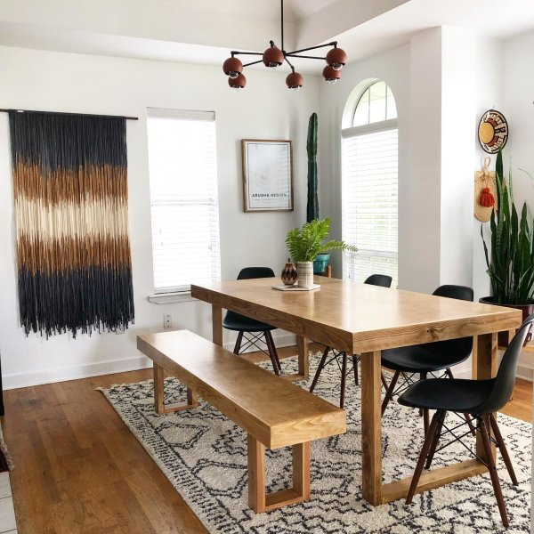 plants eclectic instagram-post boho dining-room 10