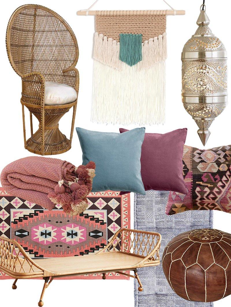Create the Look: Artful Bohemian Living Room Shopping ...