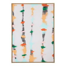 Shop Line Dots White Canvas Wall Art and more