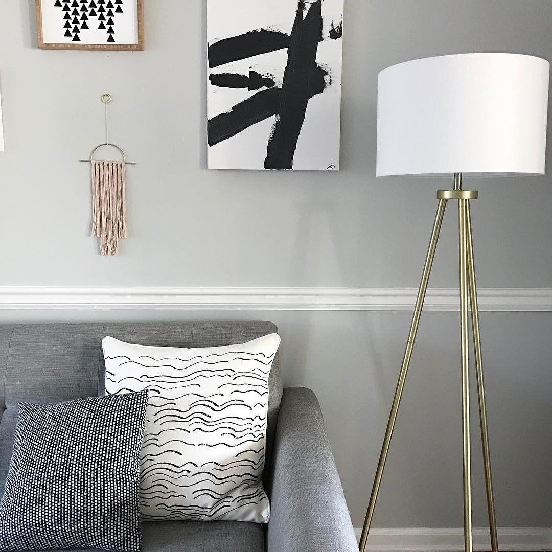 Tripod Floor Lamp Antique Brass Includes Cfl Bulb