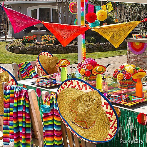 Ideas Baby Shower Mexicano.Colorful Fiesta Theme Party Ideas Party City