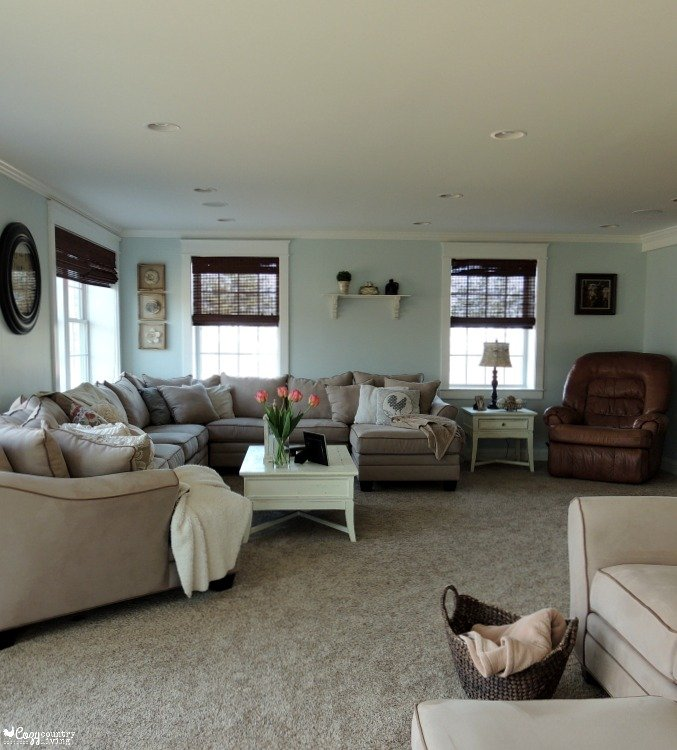 My Big Living Room Reveal Rfbloggers Cozy Country Living