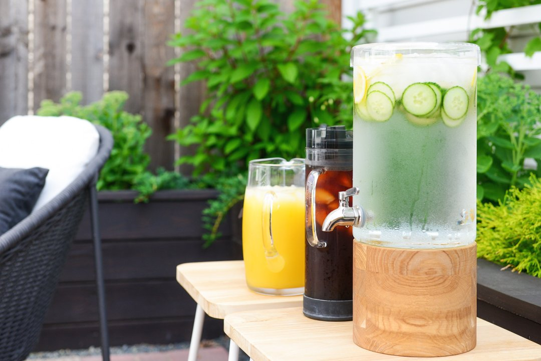 Drink station of three different types