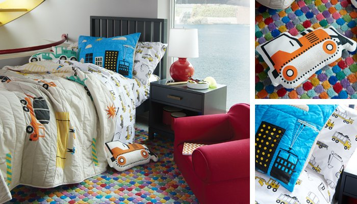 Boys bedroom ideas themes the land of nod for Construction themed bedroom ideas