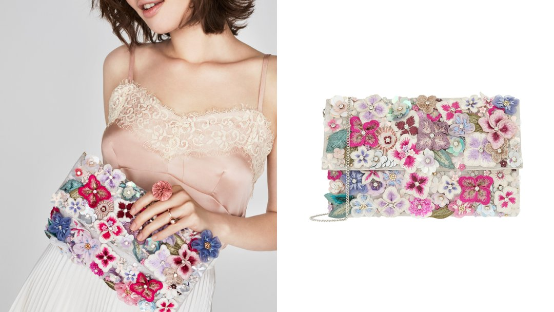 Curated image with Accessorize Francesca Wow Embellished Foldover Clutch Bag  Multi One Size ... 4aa4b2615f78e