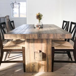 Superb Emmerson Reclaimed Wood Dining Table Reclaimed Pine Squirreltailoven Fun Painted Chair Ideas Images Squirreltailovenorg