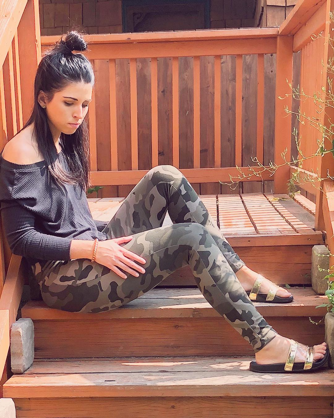Women's Camo Print High-Rise Leggings - Wild Fable Green