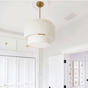 drum pendant lighting. Omg.. This 2 Tier Drum Pendant 😻😻😻 💡: @rejuvenation 📷 Lighting H