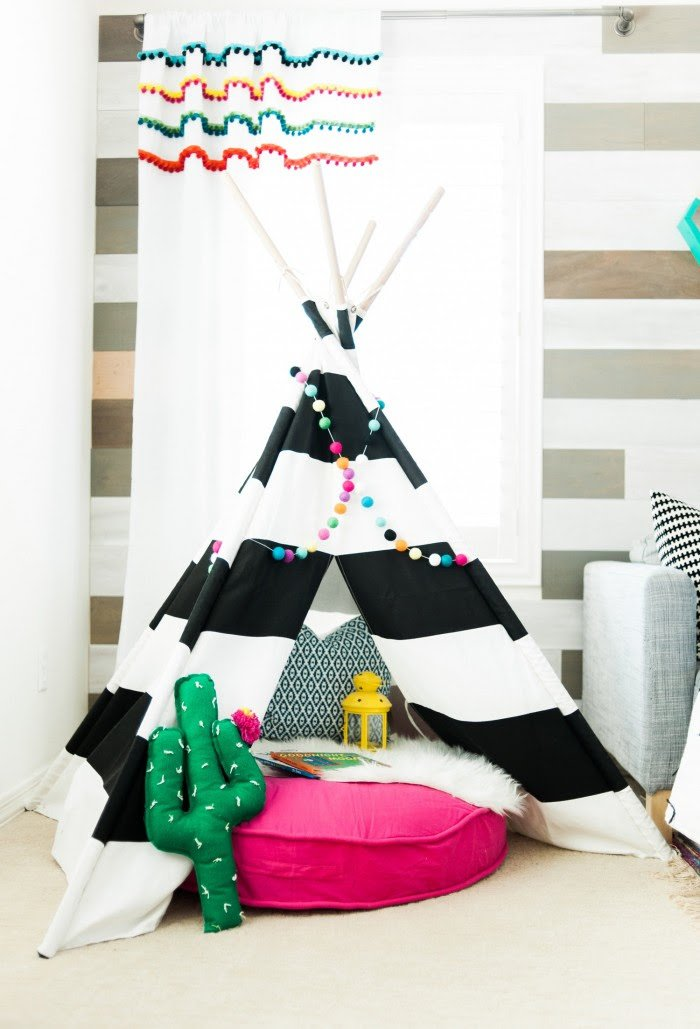 A Modern Take on a Colorful Playroom