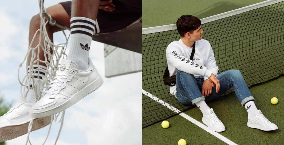 Scarpe bianche: adidas Supercourt