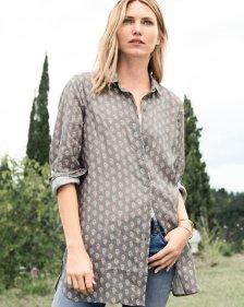 05f5688533 Garnet Hill Easy Linen Tunic Shirt