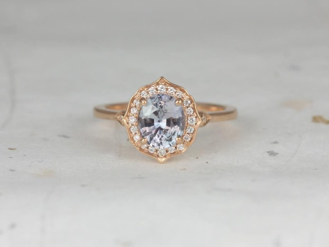 Icy Sapphire Mae Engagement Ring
