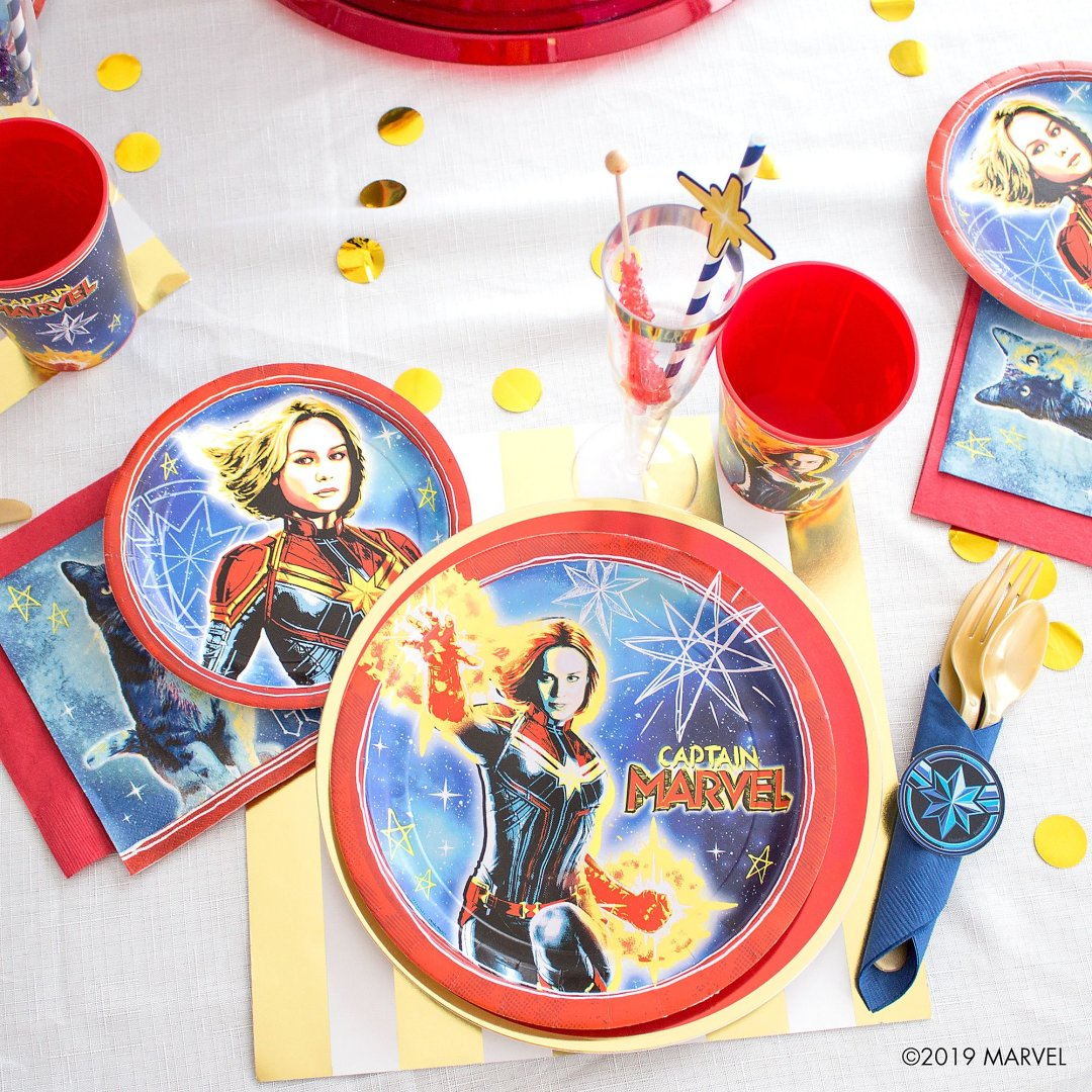 Captain Marvel Party Ideas Party City Here are all the different costumes captain marvel has had. captain marvel party ideas party city