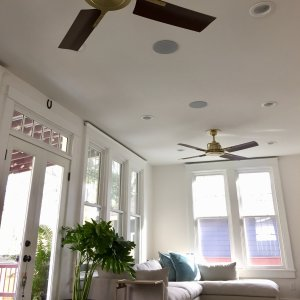 ceiling fans with lights for living room. the peregrine industrial fans are conversation piece of my living room. everyone comments on ceiling with lights for room