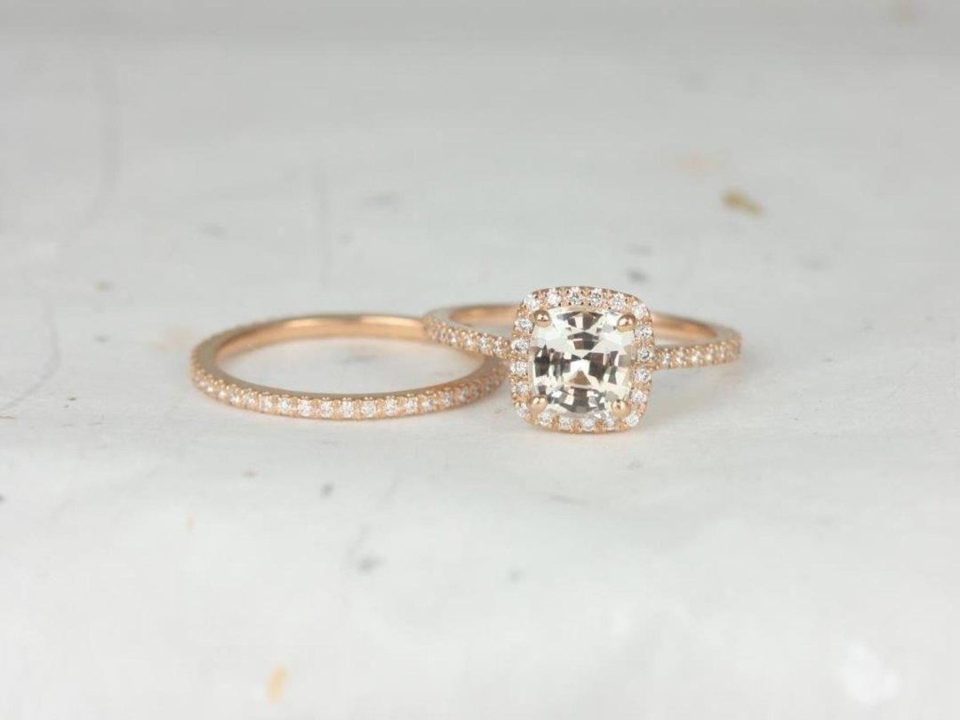 Icy Sapphire Catalina Wedding Rings
