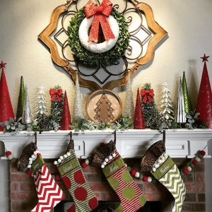Christmas Mantle All Set And Stockings Hung Definitely Makes The House Ready For Santa