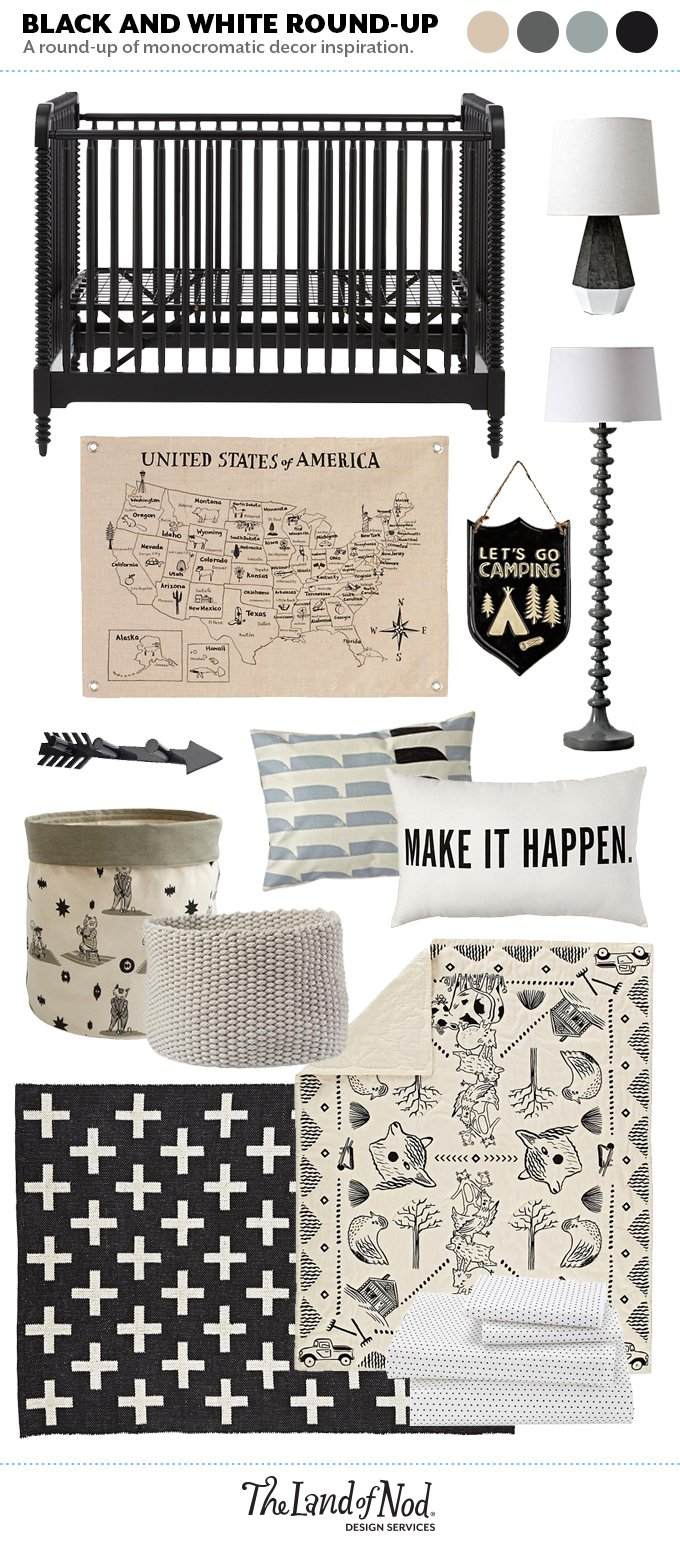 Black and White Room Moodboard