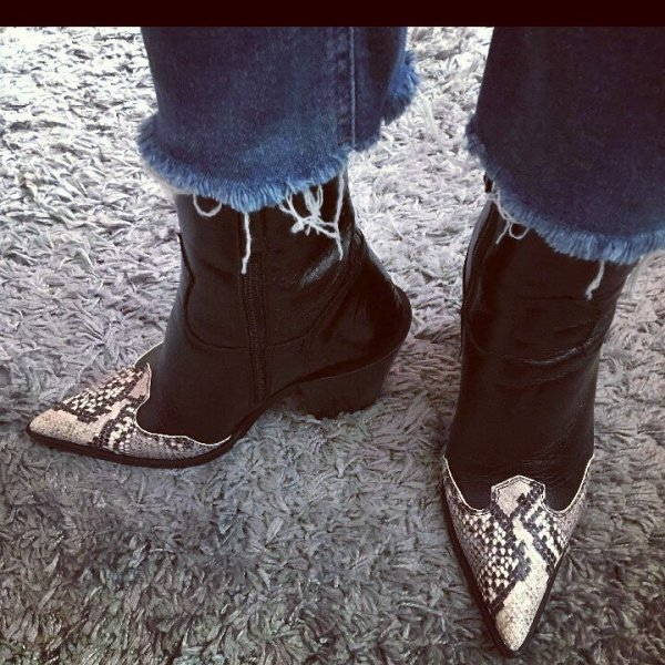 5d37f33345b I ❤ these topshop boots! My  fridayfeet for smalltownthreads