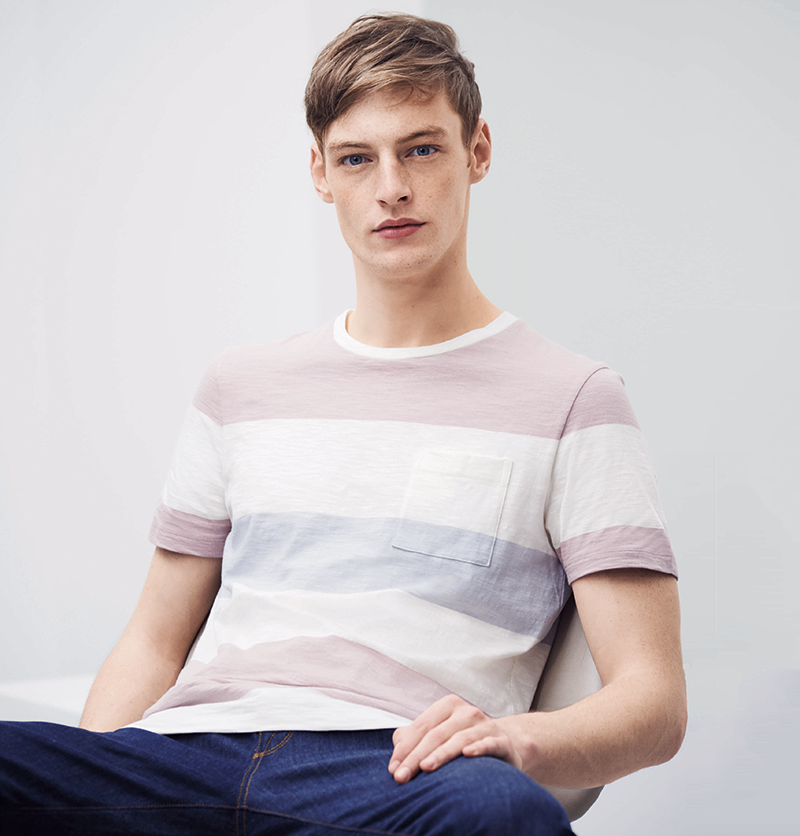 Essential tee in tonal stripes