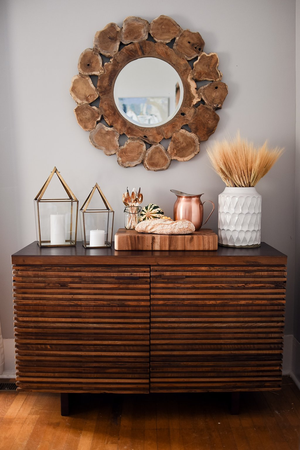 Festive Sideboard Decorating Ideas | Crate and Barrel Blog