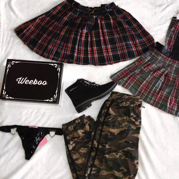 0eff8ed7ae9d47 My mini haul came in 🖤 currentmoodclothing Crimson Dress Code Plaid Skirt  currentmoodclothing Teen Spirit Plaid